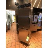 Alto Shaam Mobile (8) Pan Dutch Door Holding Cabinet, Model 1000-UP, S/N 2017133-000, Mounted on