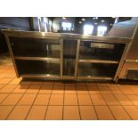 """Approx. 6' W x 34"""" W S/S Countertop Register Station with S/S Shelves"""