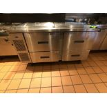 """Randell 60"""" Refrigerator / Sandwich Prep Table, Model 9040K-7, S/N W950200-1, (2) Sections, 60"""" W"""