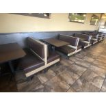 (6) Booths Including (6) Tables, (5) Dobule Sided Benches, (2) Single Sided Benches, Tables: Approx.
