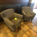 (2) Grey Cushioned Seats
