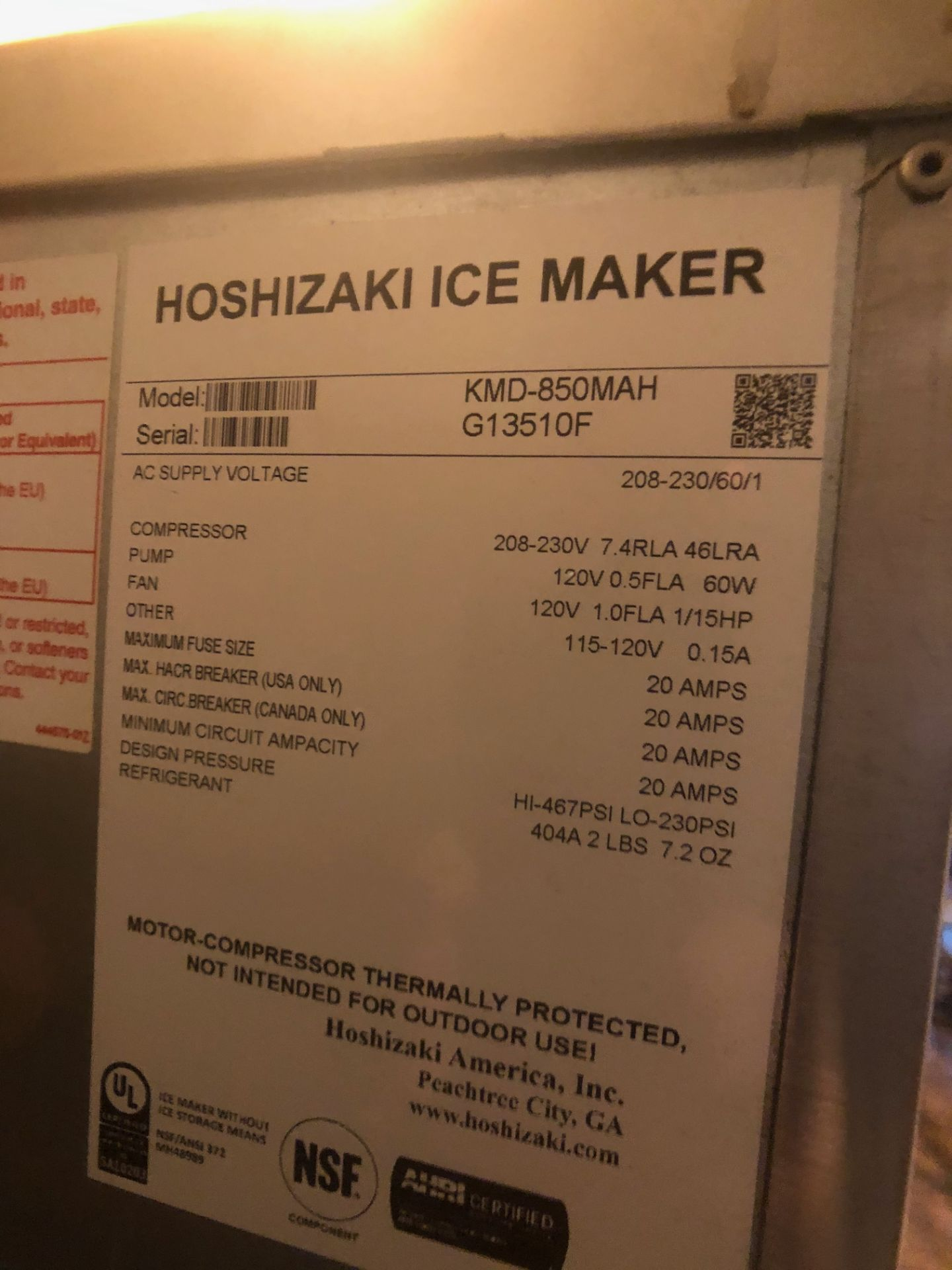 Manitowoc Beverage Systems 10-Valve Soft Drink Dispenser, Model SV250, S/N 610202454, with Hoshizaki - Image 7 of 10