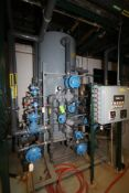 Vertical Air Receiver with Gauge System, with Control Panel, All Mounted on Steel Skid, with