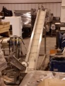"""Cleated Incline Conveyor with Hopper 8.25"""" Wide, Model , S/N , Owner Item Number , (Located in Sioux"""