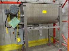 Single Shaft Stainless Steel Ribbon Blender, Model , S/N , Owner Item Number , (Located in Sioux