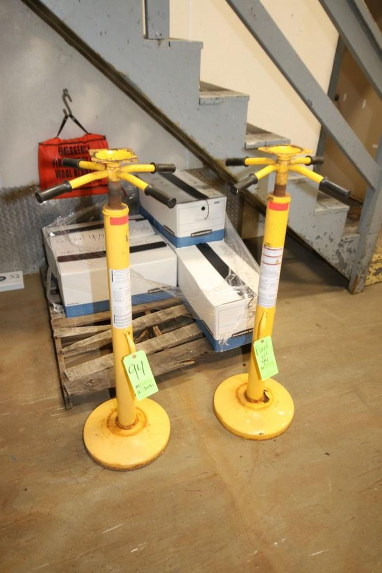 Lot 94 - Trailer Jacks, with Screw Tops (LOCATED IN GLOUCESTER, MA) (Rigging, Handling & Site Management Fee: