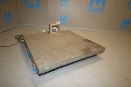 """GSE S/S Platform Floor Scale, M/N 465, S/N 002835, with Aprox. 48"""" L x 48"""" W S/S Platform, with"""