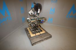 """2005 AEW Delford Systems S/S Inline Labeler, Model LS40, S/N LS4009 with 7-1/2"""" W Belt, 110 V,"""