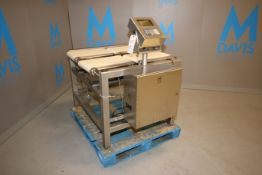 Dataweigh In-Line Dual Lane S/S Checkweigher, M/N AP22-67K-4EH2-SS-D, S/N 05060176, with 2-Lane