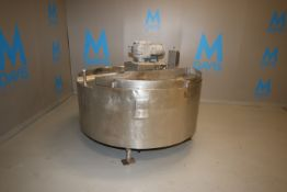 Aprox. 125 Gal. S/S Cone Kettle, with S/S Sweep Agitation, with 1.5 hp Agitation Motor, 1730 RPM,