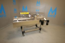 Straight Section of S/S Dual Lane Conveyor, BEC 1 hp Drive, with BEC Adjustable Speed Drive, Type