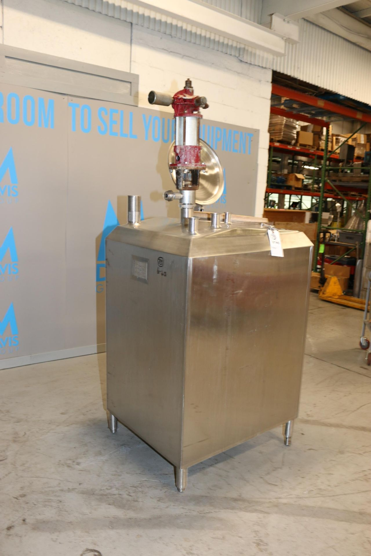 Lot 43 - Feldmeier Aprox. 180 Gals. S/S Vertical Jacketed Tank, Rectangular Design, S/N F-582-93, with Top