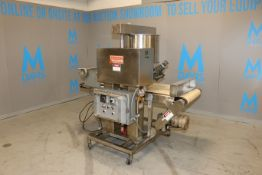 """Fedco Sysetms Inc. S/S Dual Roll Depositor, M/N 12 C, S/N 126, with Aprox. 23"""" L Infeed/Outfeed"""
