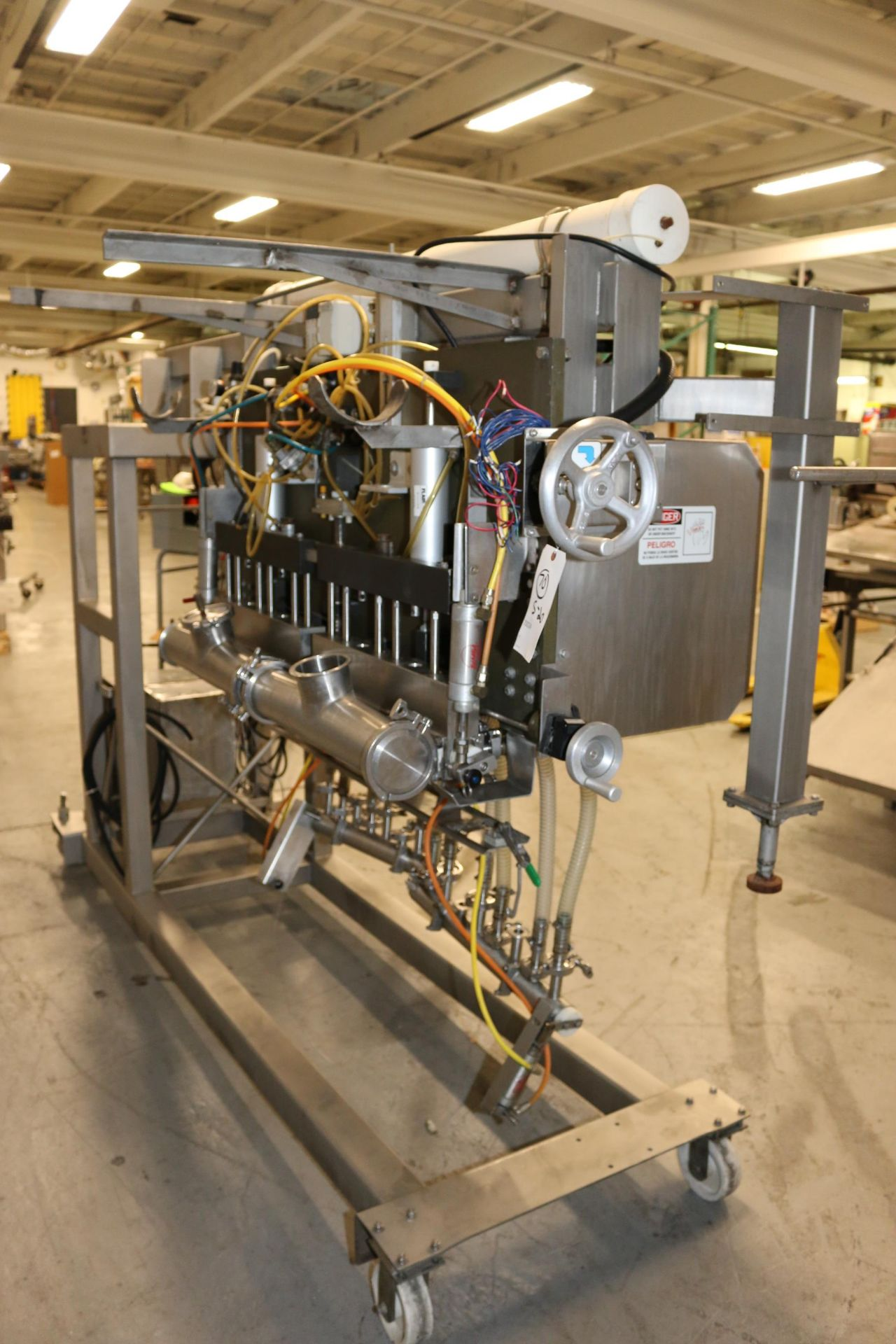 Lot 40 - Hinds-Bock 16-Head S/S Piston Filler, M/N 16P-02V, S/N 4537, with S/S Control Panel with Allen-