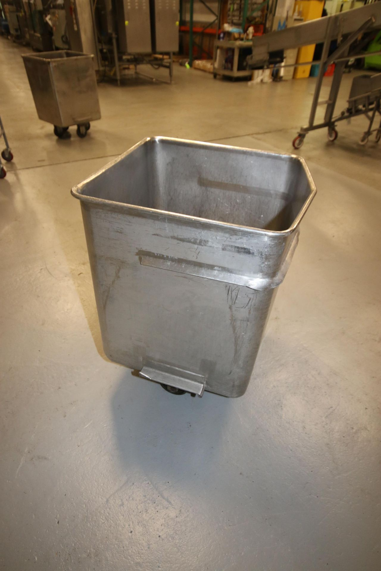 "S/S Portable Totes, Internal Dims.: Aprox. 24"" L x 24-1/2"" W x 31"" Deep, with (4) Bottom Mounted - Image 5 of 13"