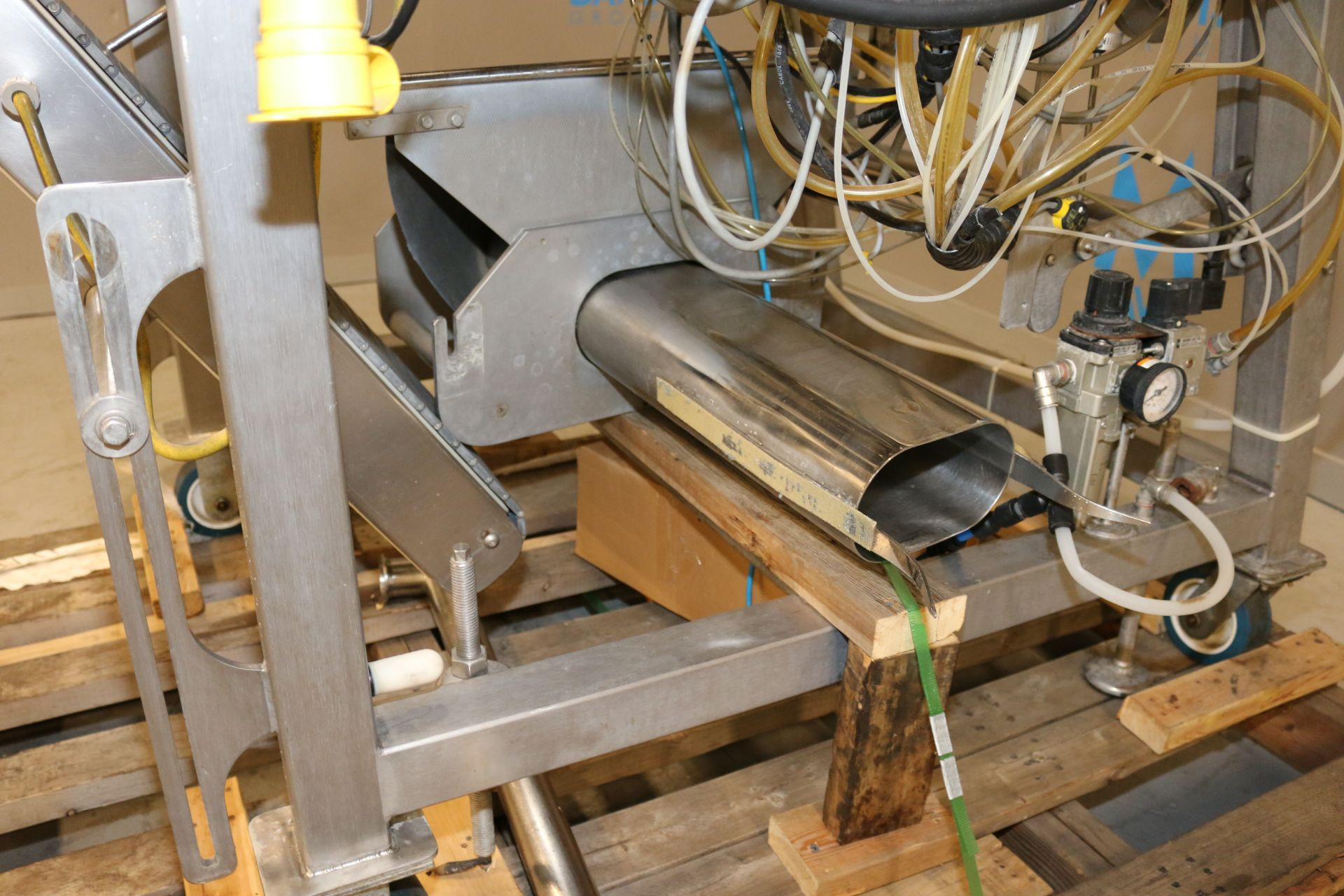 """Lot 41 - TUCS VFFS, M/N TVF-10-25-C, S/N 0098, with Aprox. 12"""" W Discharge Conveyor, with Control Panel"""