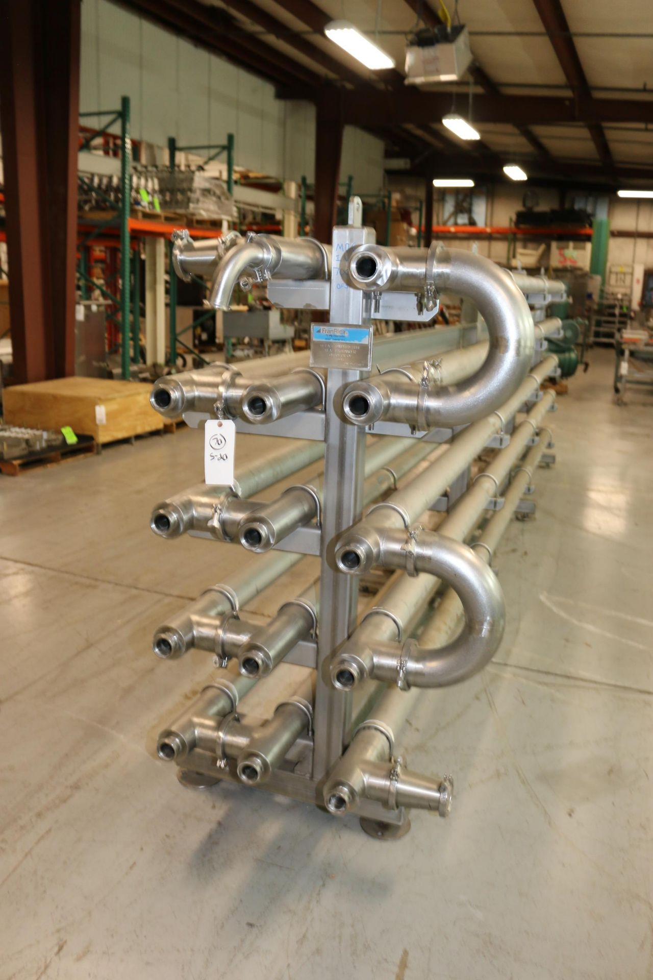 Lot 45 - FranRica 14-Pass Dimpled Tube Heat Exchanger, M/N OES01-CX-01, PAT. #: 5.375.654, Overall Dims.: