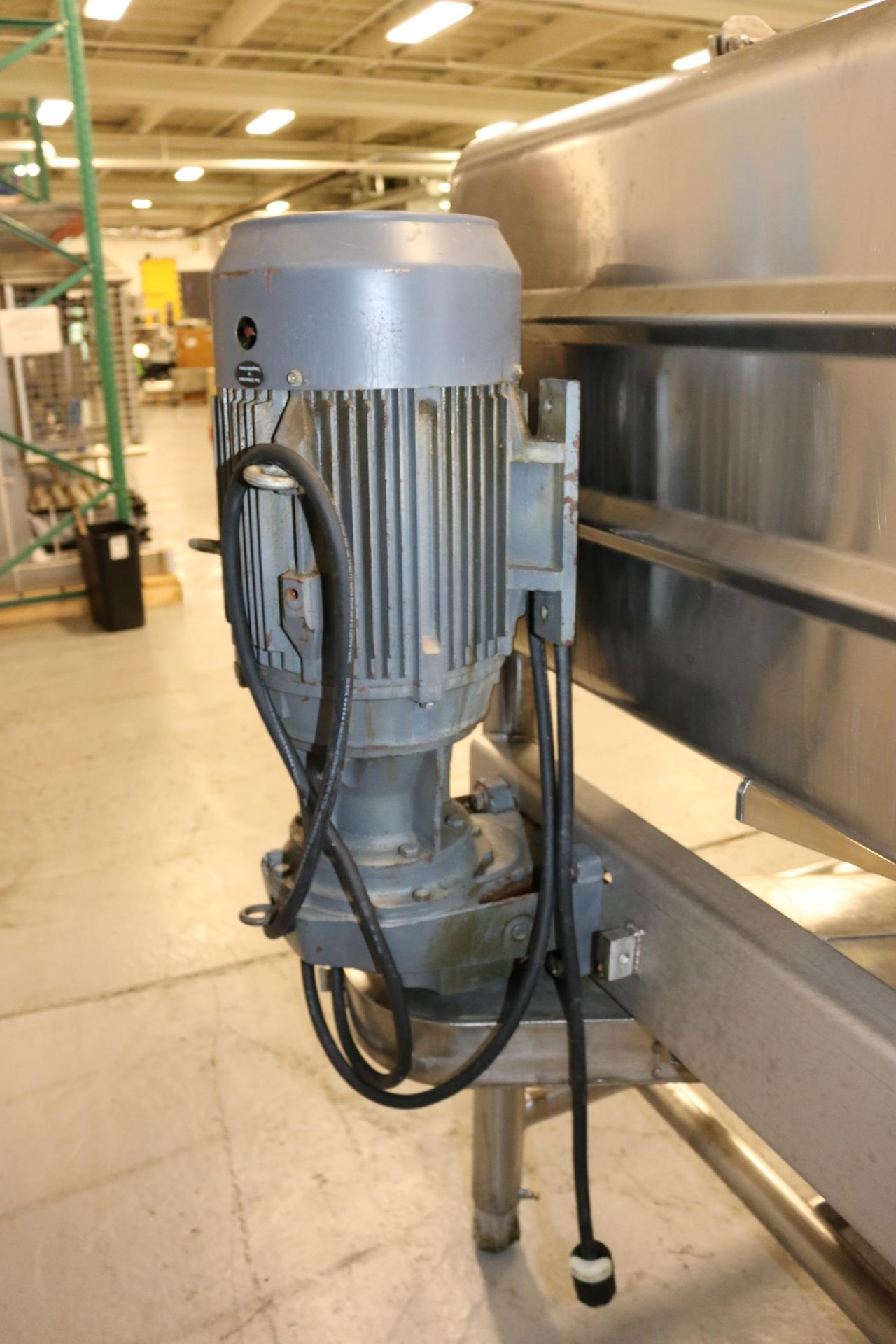 Lot 37 - Norman 250 Gal. S/S Likwifier, M/N DS 250, S/N 546, with Side Mounted 15 hp Motor, 1760 RPM, Mounted