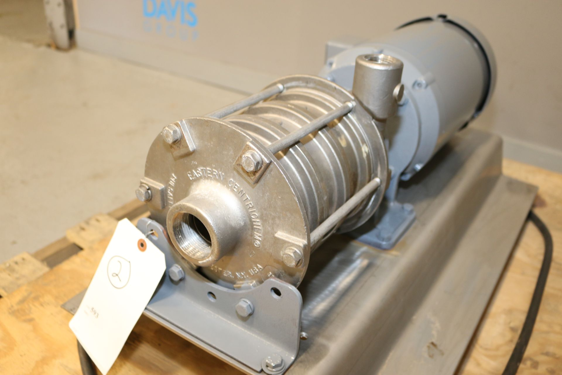 Lot 33 - Eastern Centrichem 5 hp Pump, M/N ECH4-ASKFENSS, with Thread Type Inlet/Outlet, with Baldor 3450 RPM