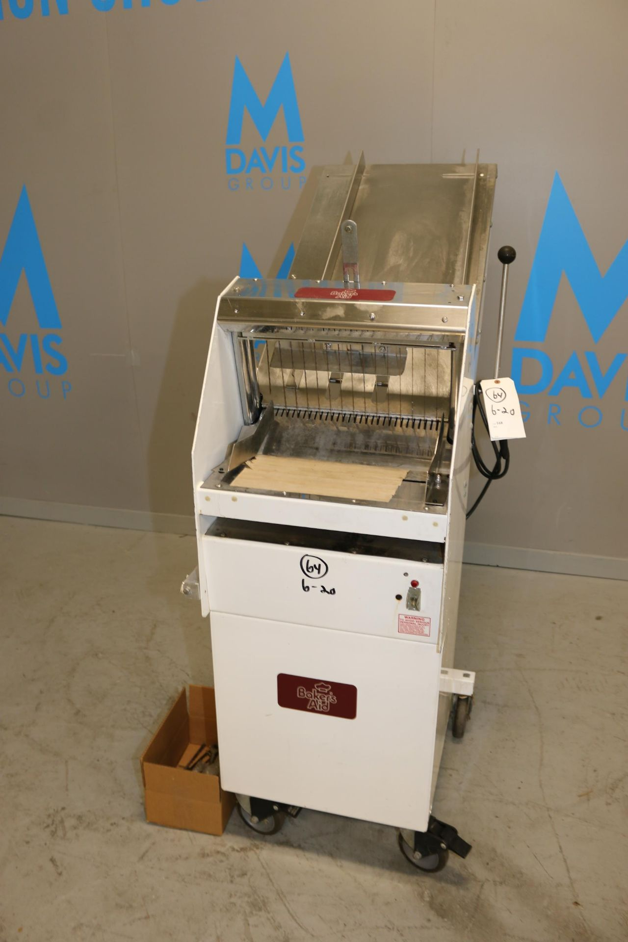 Lot 59 - Baker's Aid Bread Slicer, M/N GMB12, S/N 9214 2326 00425, 115 Volts, 1 Phase, Mounted on Portable