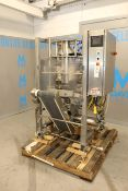 """TUCS VFFS, M/N TVF-10-25-C, S/N 0098, with Aprox. 12"""" W Discharge Conveyor, with Control Panel"""