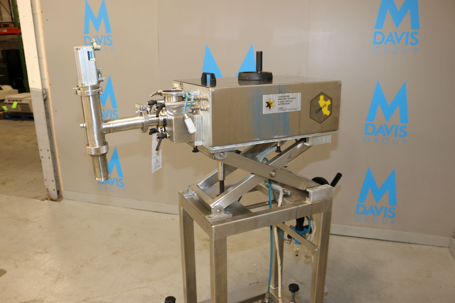 Lot 36 - Comas S/S Dosing Pump, Matricola: 2489, Year: 1996, with Adjustable S/S Scissor Frame, with S/S