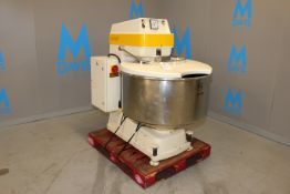 """Kemper S/S Spiral Mixer, Type: SP 125 B, Date-Code: C2 6724540, with Aprox. 35"""" Dia. S/S Bowl with"""