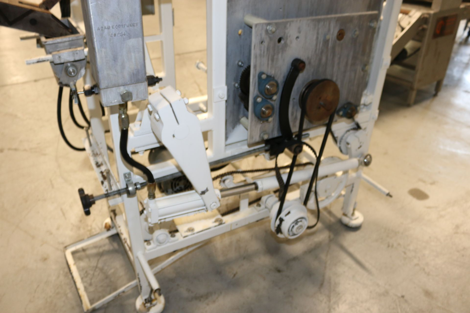 """Lot 42 - Adam Equipment 16-Die Roller, with Aprox. 2-1/2"""" Dia. Die, with Infeed Chute, with Cuttler Hammer"""
