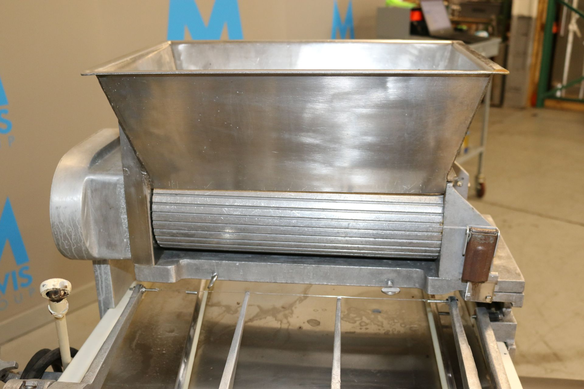 "Lot 50 - Champion Machinery Co. Double Barrel Dough Extruder, with Dual S/S Feed Rolls, Aprox. 16"" L x 5"""