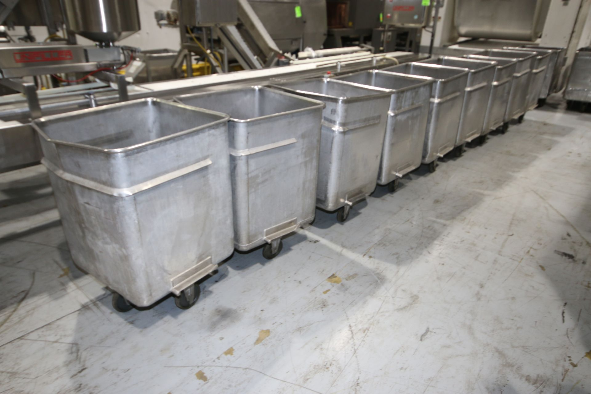 "S/S Portable Totes, Internal Dims.: Aprox. 24"" L x 24-1/2"" W x 31"" Deep, with (4) Bottom Mounted - Image 7 of 13"