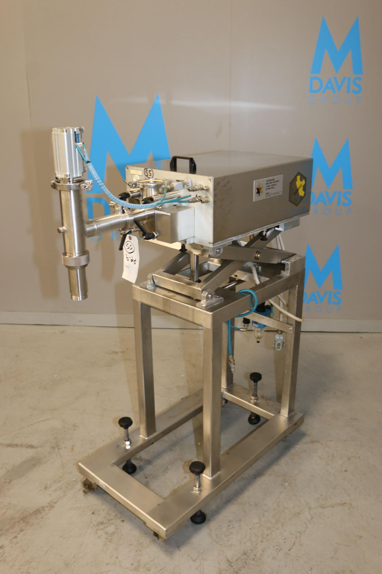 Lot 35 - Comas S/S Dosing Pump, Matricola: 2489, Year: 1996, with Adjustable S/S Scissor Frame, with S/S
