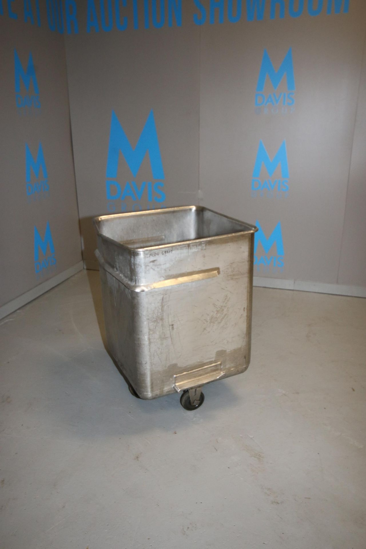 "S/S Portable Totes, Internal Dims.: Aprox. 24"" L x 24-1/2"" W x 31"" Deep, with (4) Bottom Mounted"