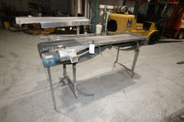 """S/S Accumulation Conveyor, with (3) Aprox. 6"""" W Conveyor Chains, Overall Dims.: Aprox. 102"""" L x"""