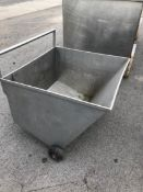 """24"""" / 20"""" - 18"""" Deep S/S Rollaround Stainless Cart (Located Port Byron, NY)"""