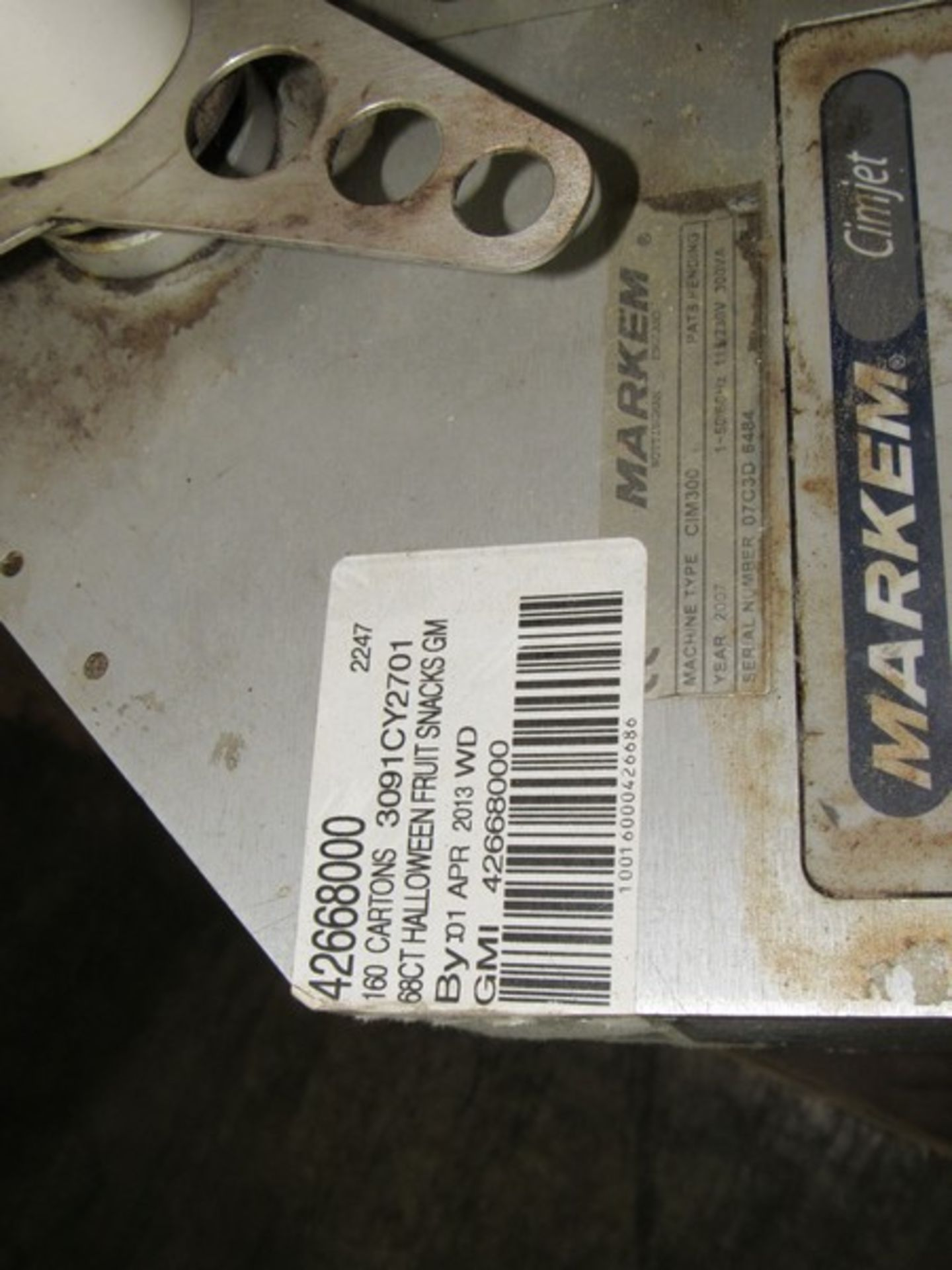 Markem CE Label Printer Applicator for Boxes on Tripod -- - (LOCATED IN IOWA, RIGGING INCLUDED - Image 9 of 10