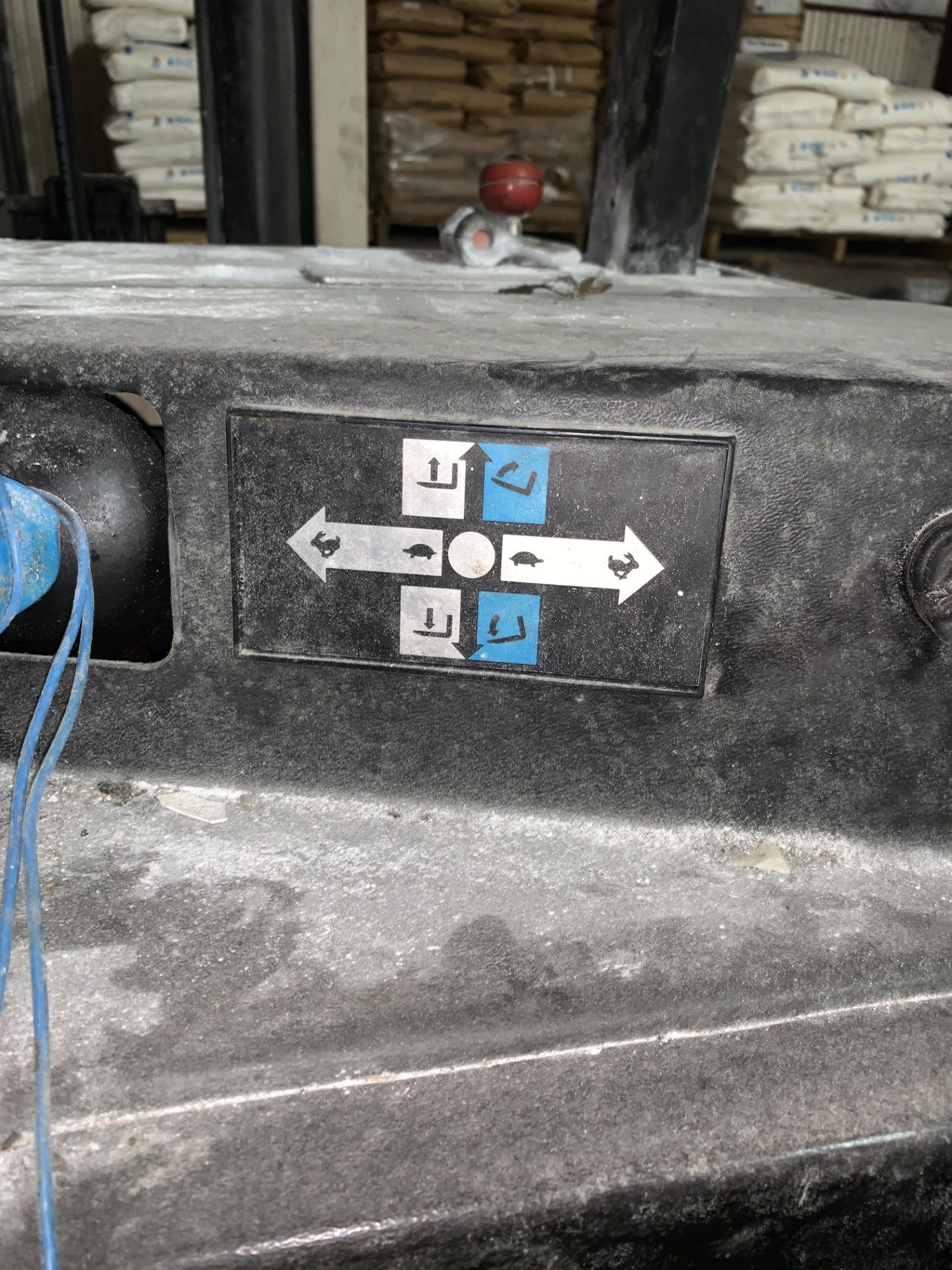Lot 246 - Stand Up Forklift Truck Battery Operated -No Battery (Rigging and loading fees included in the