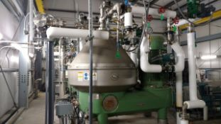 Westfalia RSE300-01-777 Separator,Machine #1733-991, Mfg. 2014, 3-Phase Separator Design, Dual Pump