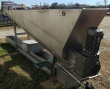 """2008 FPEC Screw Auger Conveyor Model SCL930, U-Trough with cooling jacket, 18"""" x 17"""" Inclined Screw"""