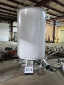 500 Gallon Mild Steel Jacketed Mix Tank with Lightnin Mixer. Total Height 12 ft., (LOCATED IN
