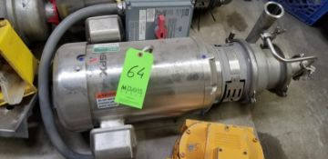 "SPX Stainless Steel Fristam Centrifugal Pump; 2 1/2""/2""; Model: WS 30/30 1/13 15 HP; 230/460V;3520"