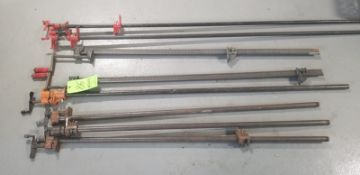 C Clamps (8) (Located Elk Grove, IL) (Load/Rig Fee $50.00)