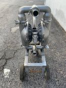 "2.5"" 316 Stainless Portable Diaphragm Pump Mounted on Cart (Located Harrodsburg, KY)"