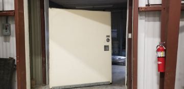 """Aprox. 76"""" W x 92"""" H x 4"""" Thickness Sliding Insulated Door - (No Frame) (Located Dixon, IL)"""