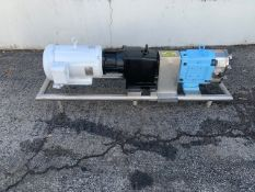"Waukesha 15 hp Positive Displacement Pump, Model 130, S/N 37762205 with 4"" Clamp Type S/S Head, S/"