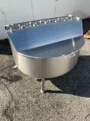"""Aprox. 14.5"""" Deep x 45"""" Dia. x 40"""" Overall H S/S Balance Tank with 2.5"""" Outlet (Located"""