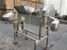 Urschel OV Slicer, Model OV, S/N 1279 with Top Power Feed Belt and Feed Hopper, 17 Blade Wheel