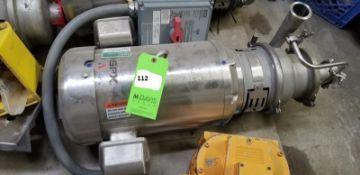 "SPX Stainless Steel Fristam Centrifugal Pump; 2 1/2""/2""; Model: WS 30/30 1/13 15 HP; 230/460V;3520"