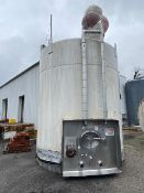 Crepaco 6,000 Gal. S/S Jacketed Silo, S/N F1811 with Alcove, S/S Air Valves