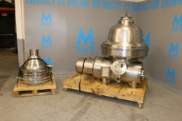 Westfalia S/S Separator, M/N MSA200-01-076, S/N 1653 722, Speed of Bowl: 4700 RPM, with 50 hp Motor,