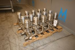 "Tri-Clover 2-1/2"" S/S Air Valve Cluster, with S/S Clamp Type Manifold (IN#70264)(LOCATED IN MDG"